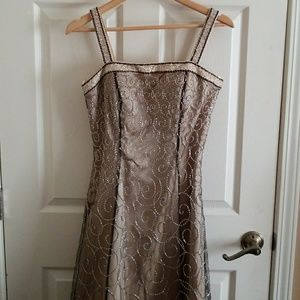 Sue Wong ball gown with sequin design